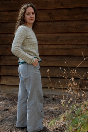 grey pants side