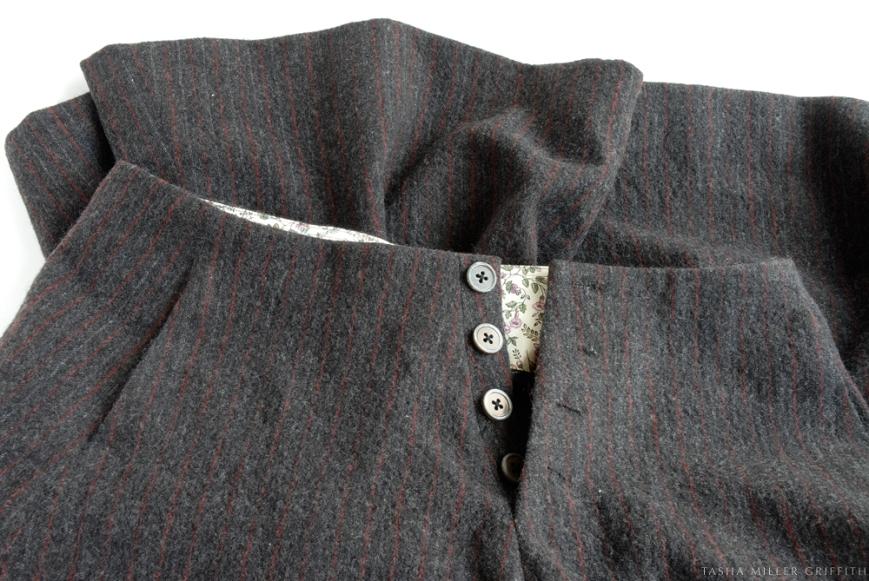 pinstripe skirt remodel 2