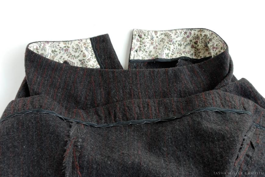 pinstripe skirt remodel 3