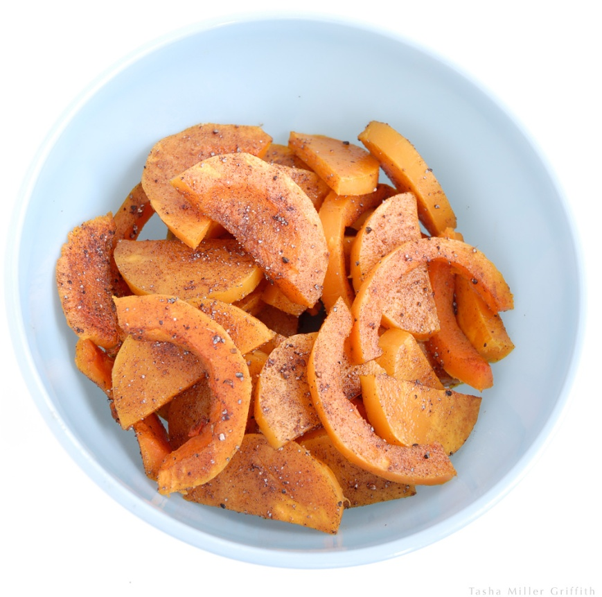 roasted butternut with sweet spices