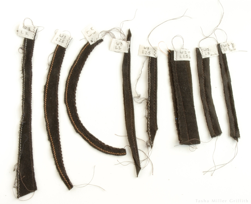 brown silk samples