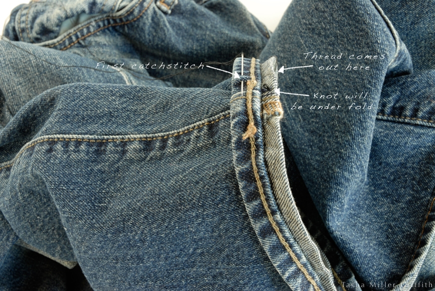 Jeans hem catchstitch 1