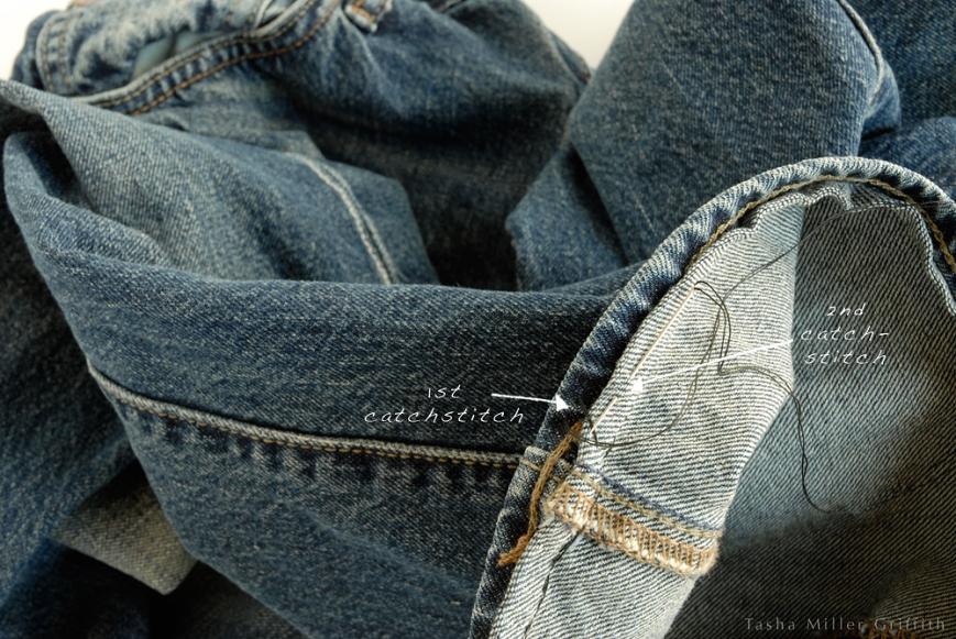 Jeans hem catchstitch 2
