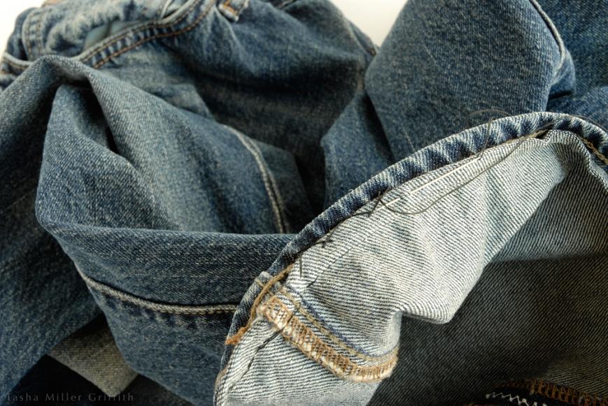 Jeans hem catchstitch 3
