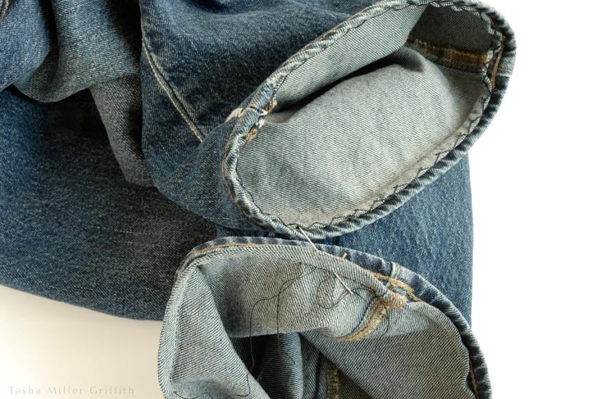 Jeans hem ends