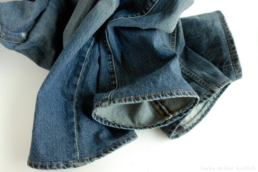 Jeans hem finished hems