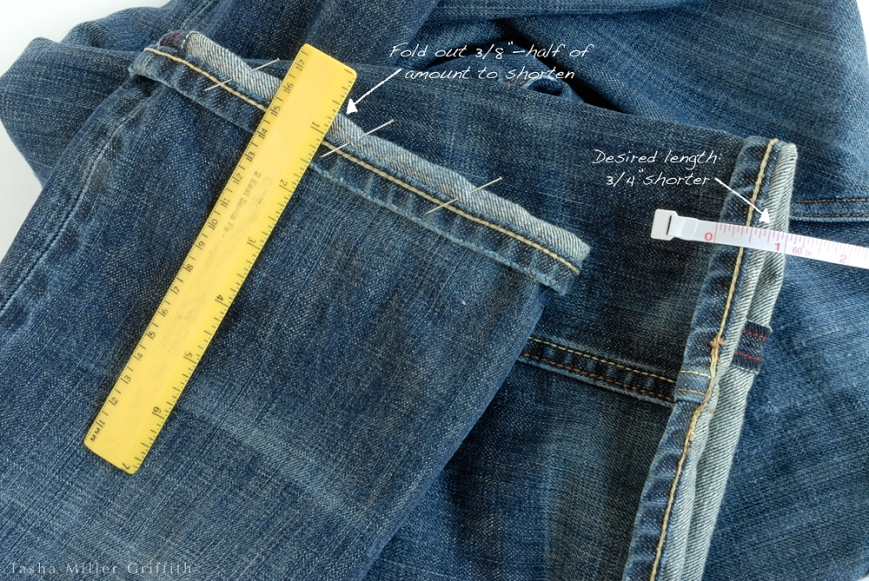 Jeans hem measuring