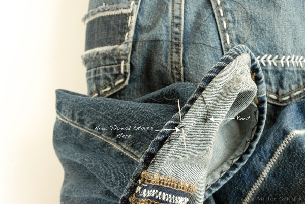 Jeans hem new thread