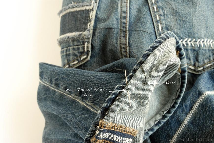 Jeans hem new thread