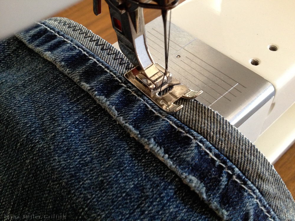 How To Hem Your Own Jeans And Keep The Original Hem Stale Bread Adorable Hemming Jeans Sewing Machine