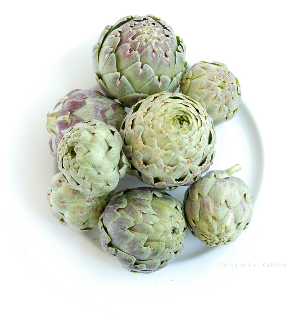 artichokes on plate