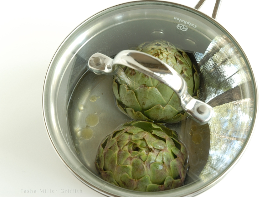 artichokes with lid