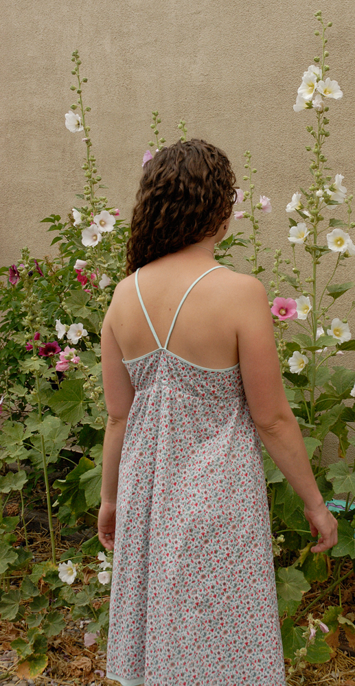 hot weather dress hollyhocks 2