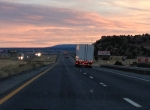 nm highway sunset