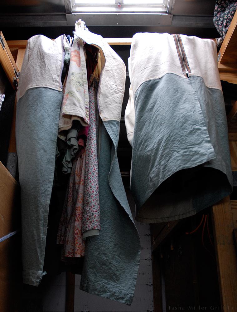 garment bags hanging
