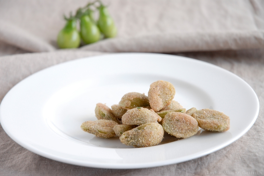 fried green cherry tomatoes