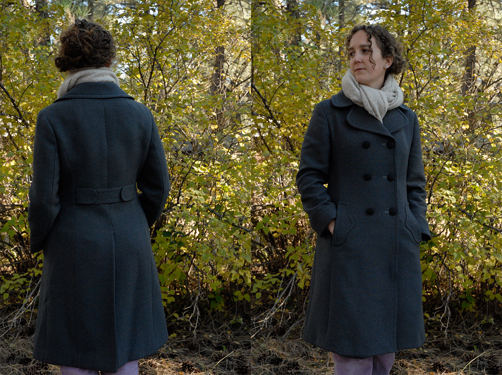me wearing coat