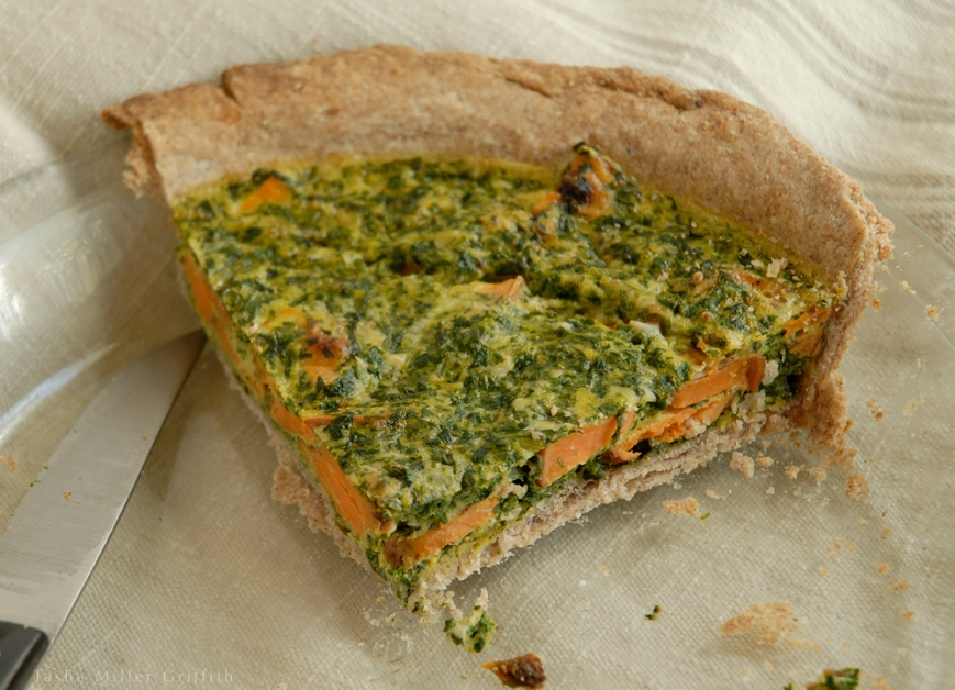 sweet potato greens tart