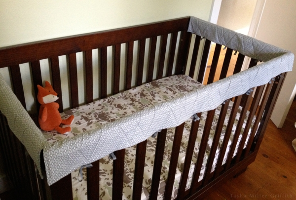 crib rail protectors on