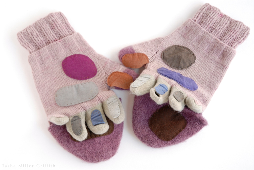 purple mittens before