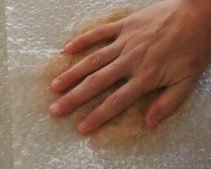 bubble wrap rub