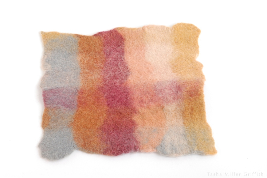 natural dye felt color sample