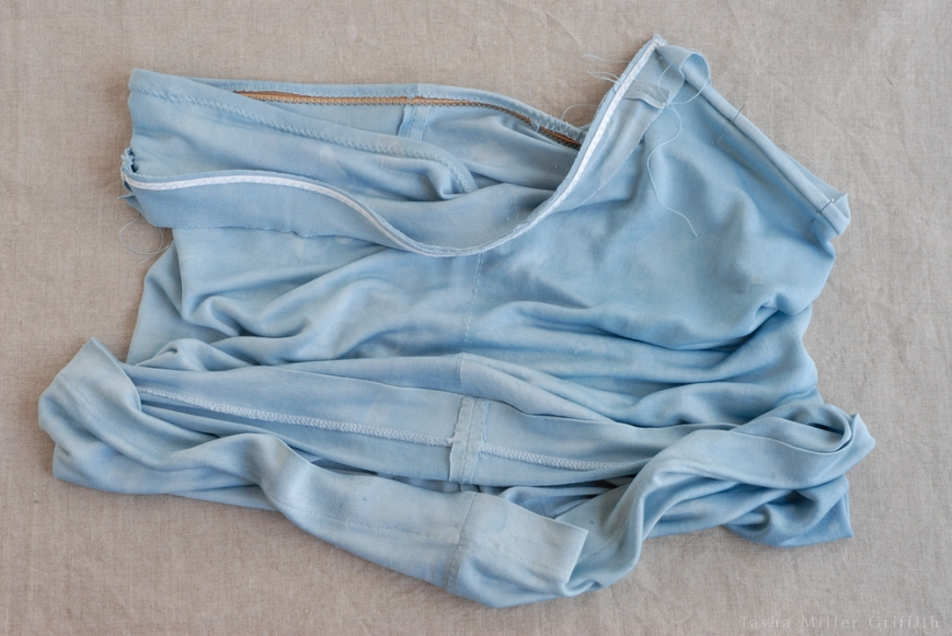blue silk cami inside