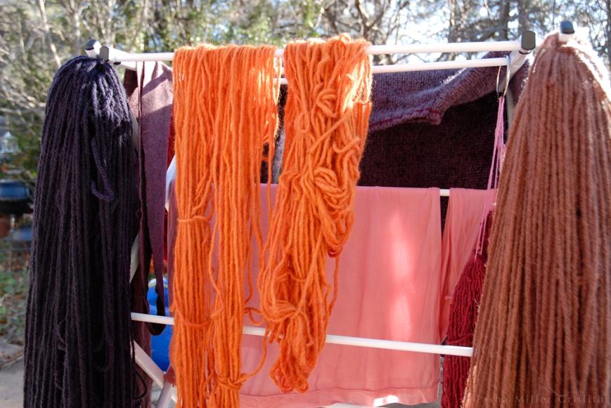 pink silk cami dyed hanging