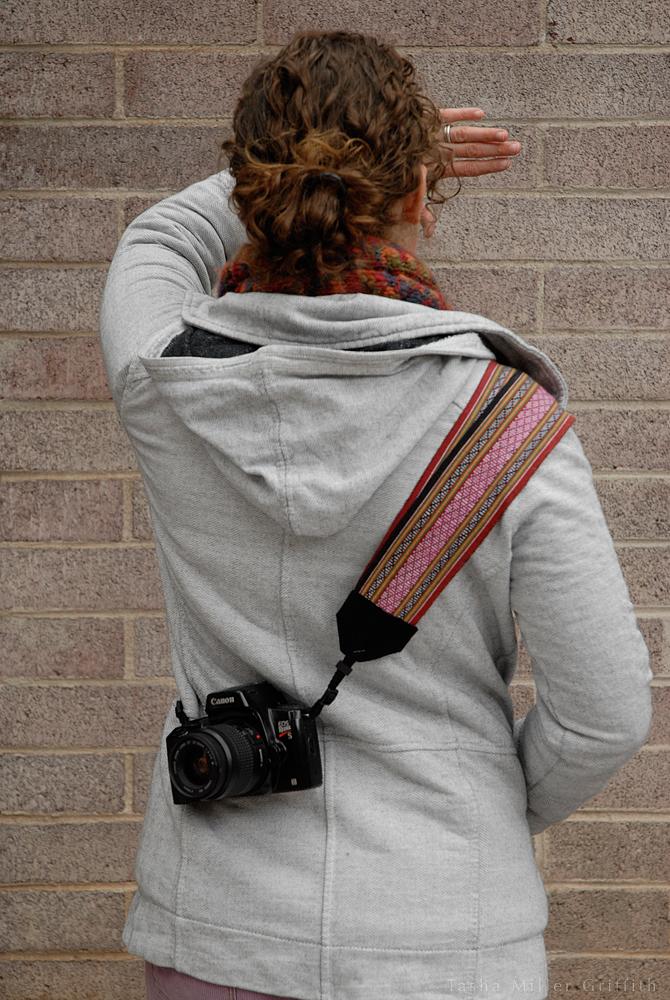 camera strap on