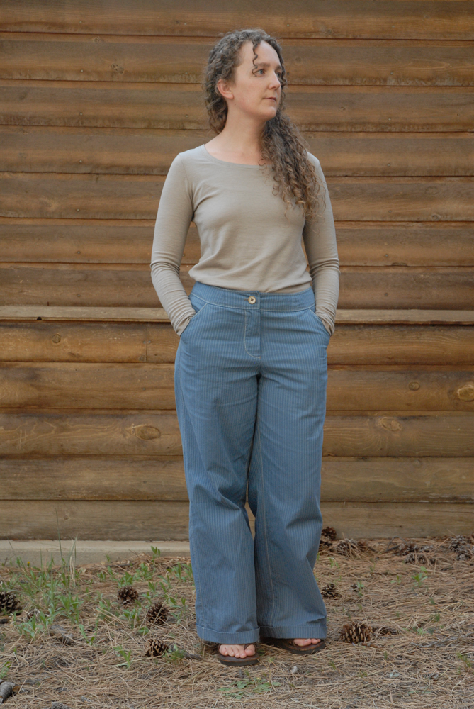 blue stripe trous and wool knits 2