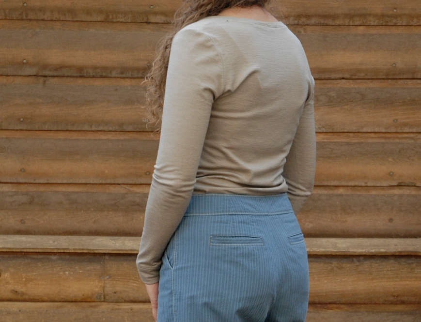blue stripe trous and wool knits 8