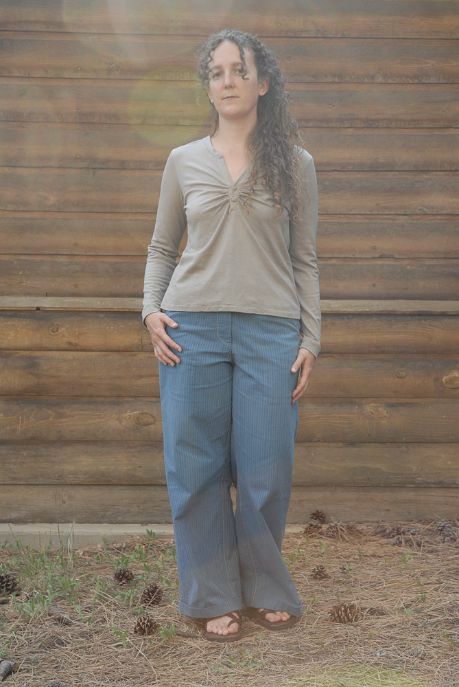 blue stripe trous and wool knits 9