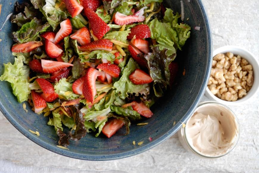 spring strawberry salad 1