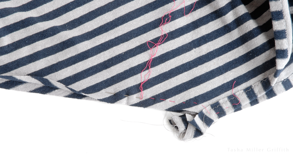 basting stripes