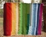 rainbow ribbing baby blanket 1