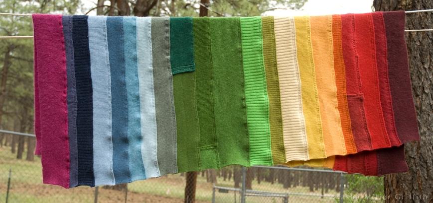 rainbow ribbing baby blanket 3
