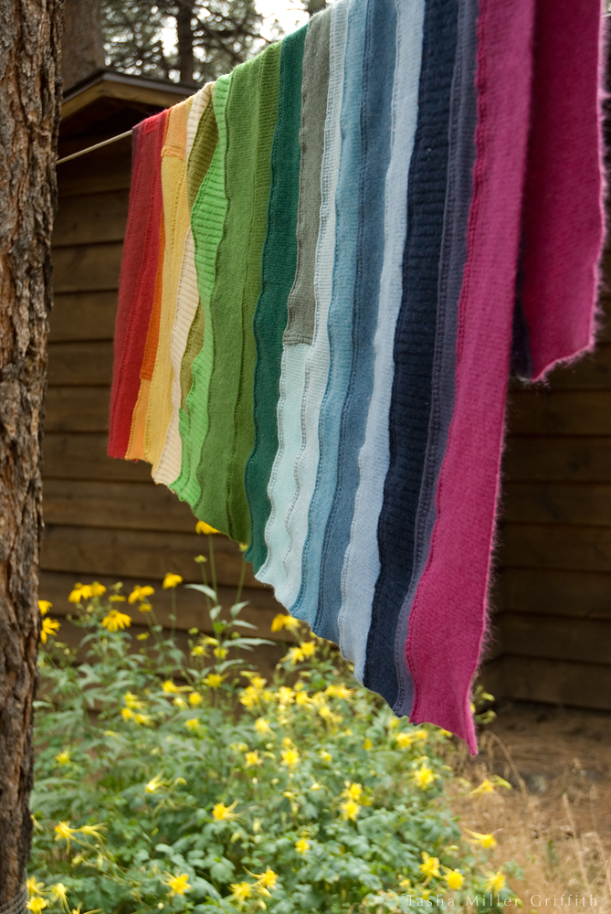 rainbow ribbing baby blanket 4
