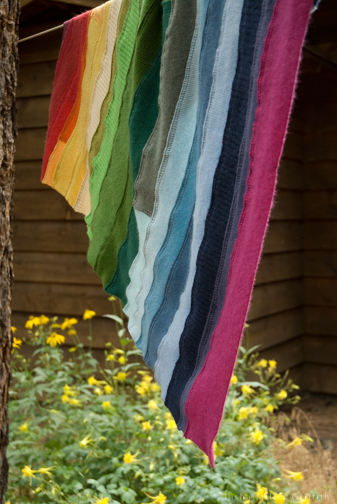 rainbow ribbing baby blanket 5