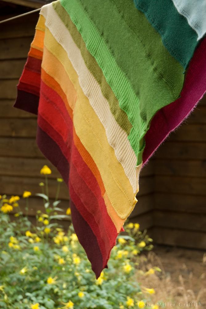 rainbow ribbing baby blanket 6