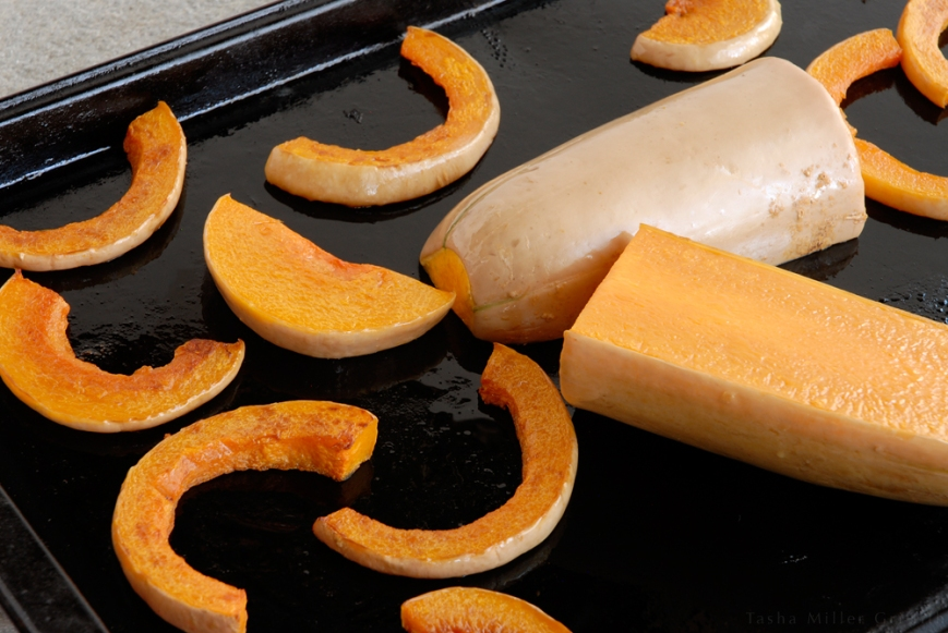 roasted butternut slices