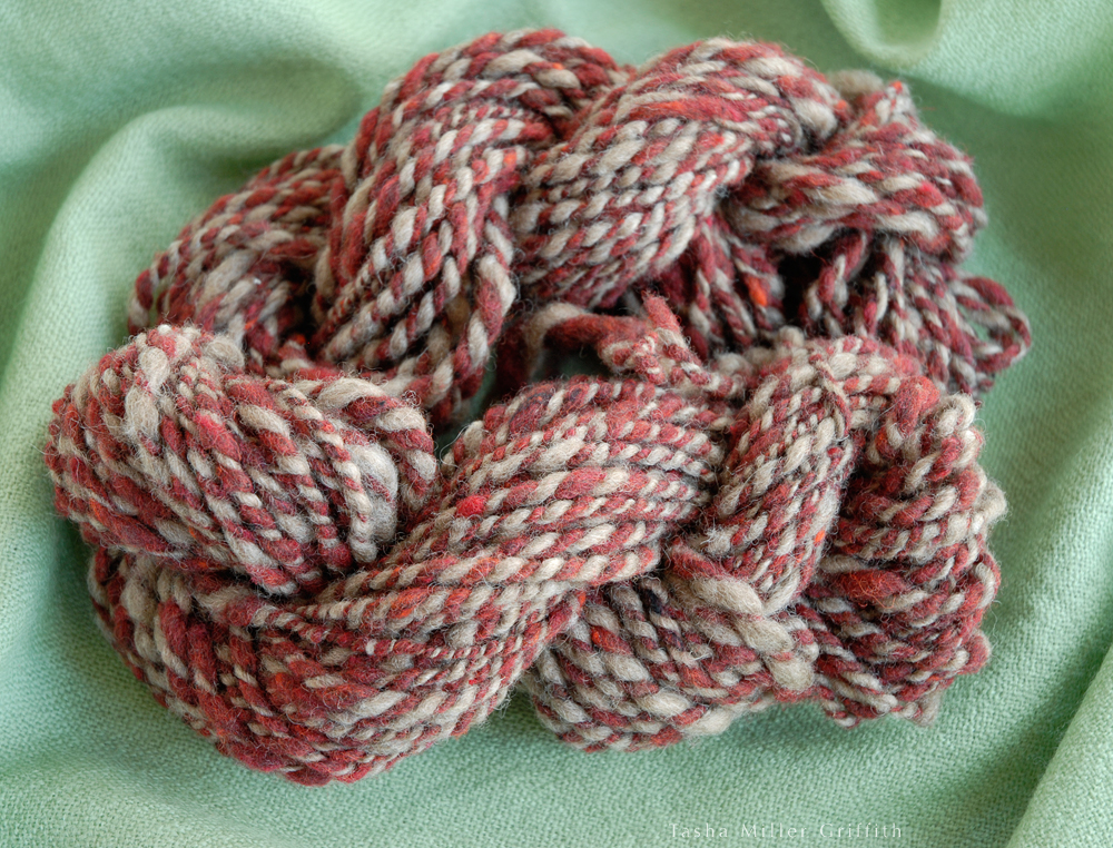 first handspun yarn 4