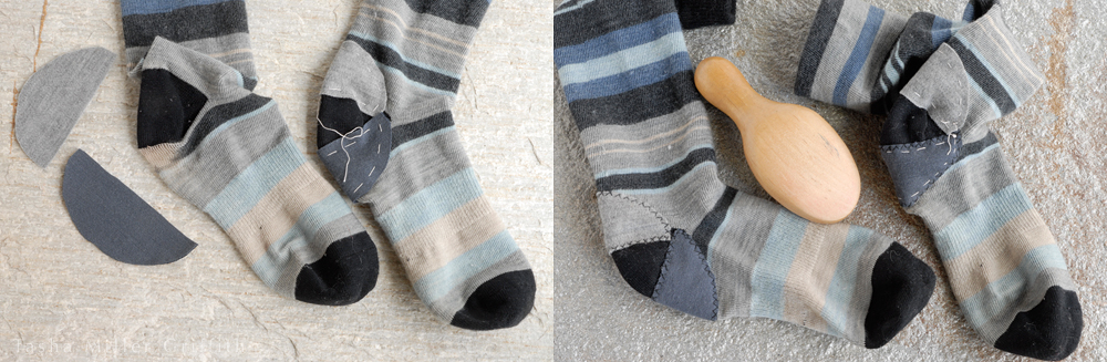 fixing blue stripe socks 2