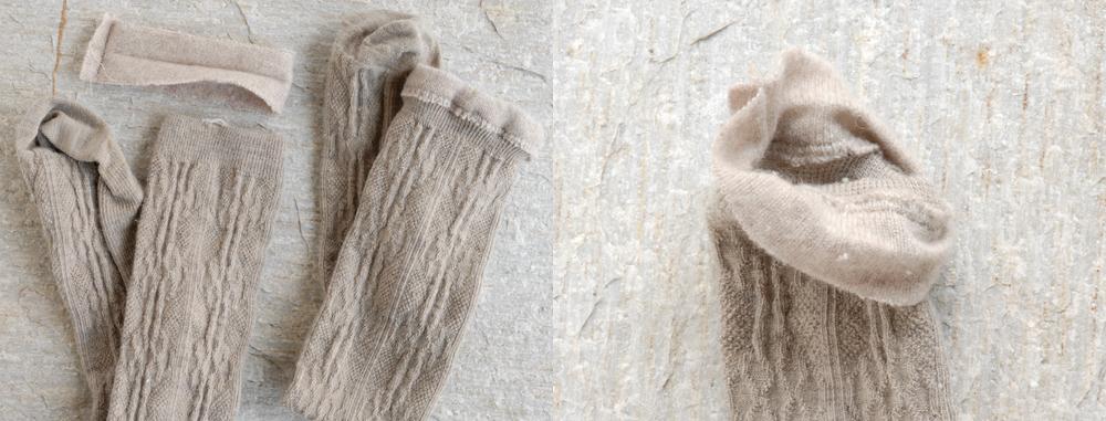 fixing sock cuff
