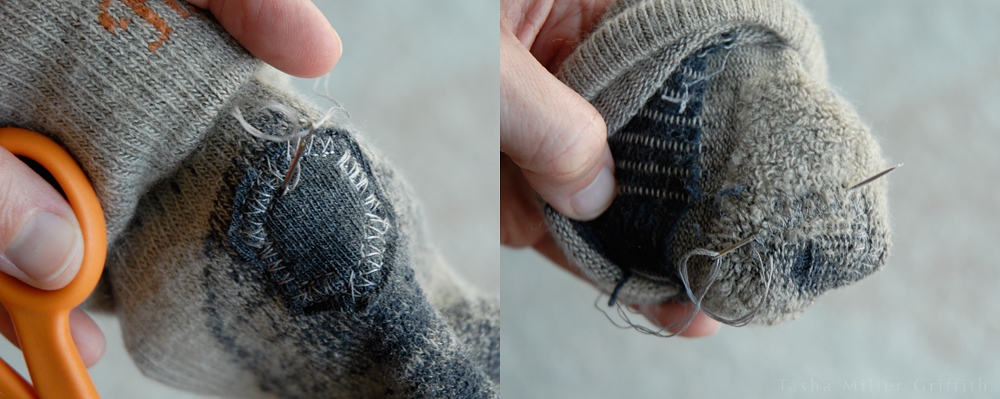 thread ends fixing socks