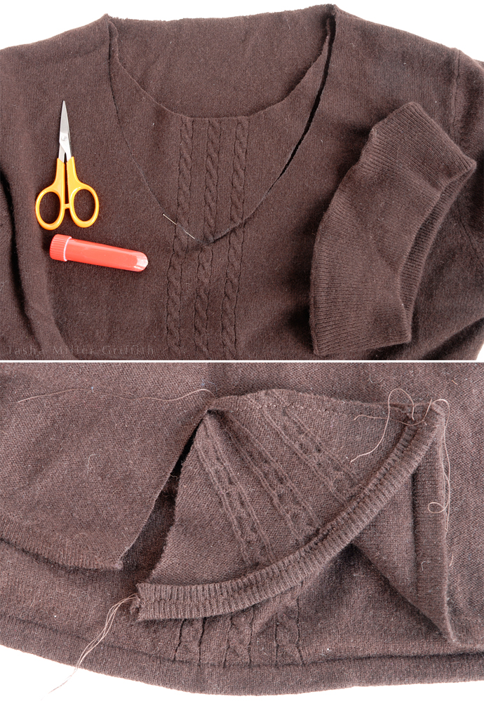 brown winter top alterations