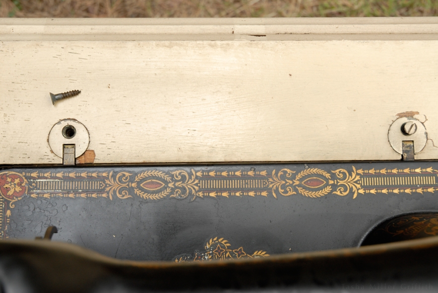 treadle cabinet restoration 1