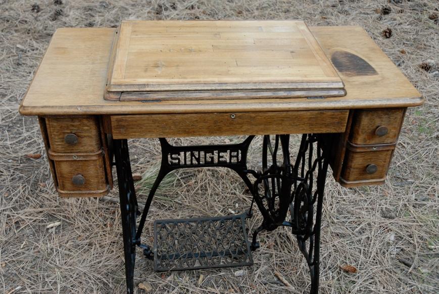 treadle cabinet restoration 11