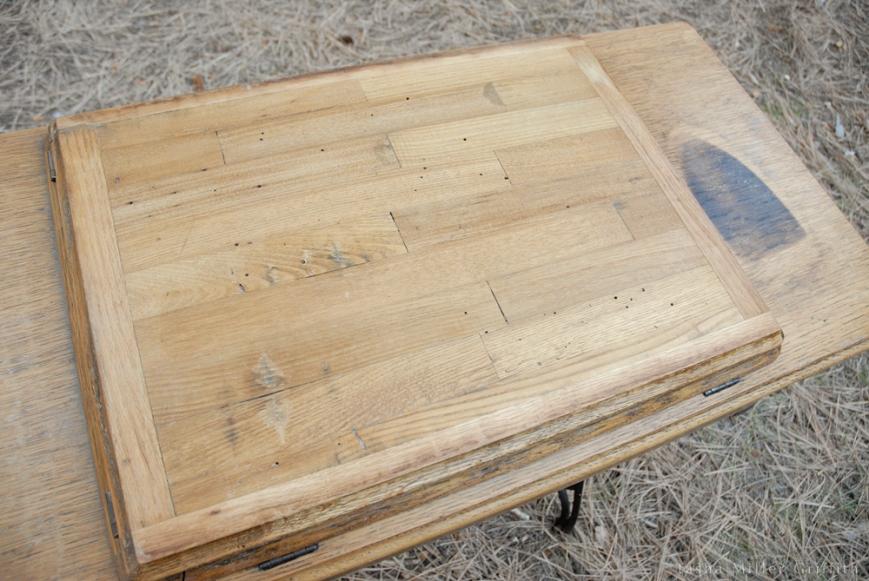 treadle cabinet restoration 12