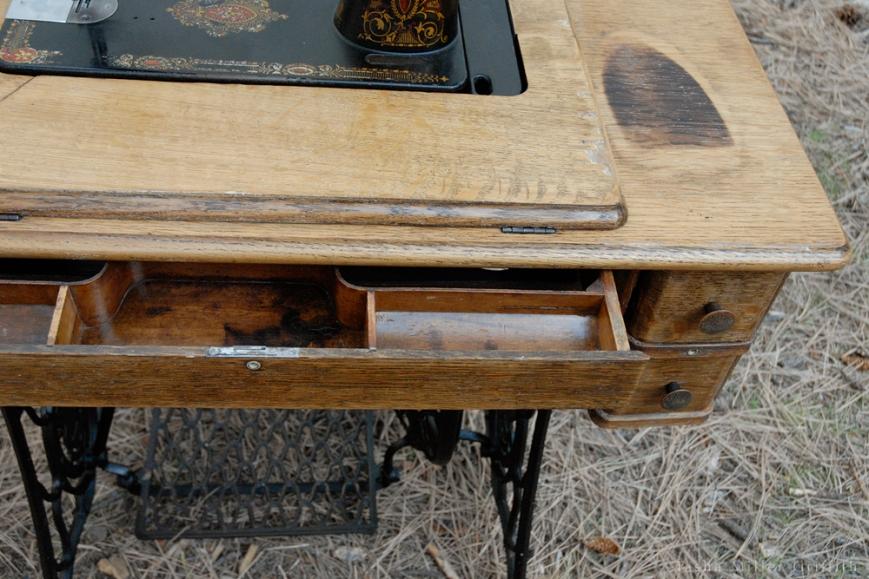 treadle cabinet restoration 13