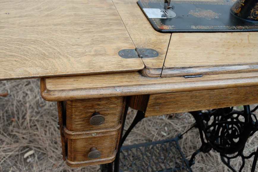 treadle cabinet restoration 15